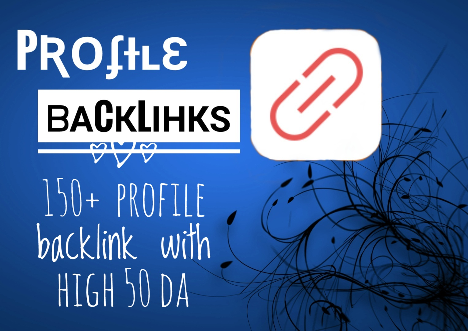 I will create Unique 200 manual dofollow profile backlinks with more than 50 DA