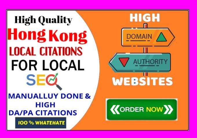 Create 50 High DA Hong Kong Live Local Citations
