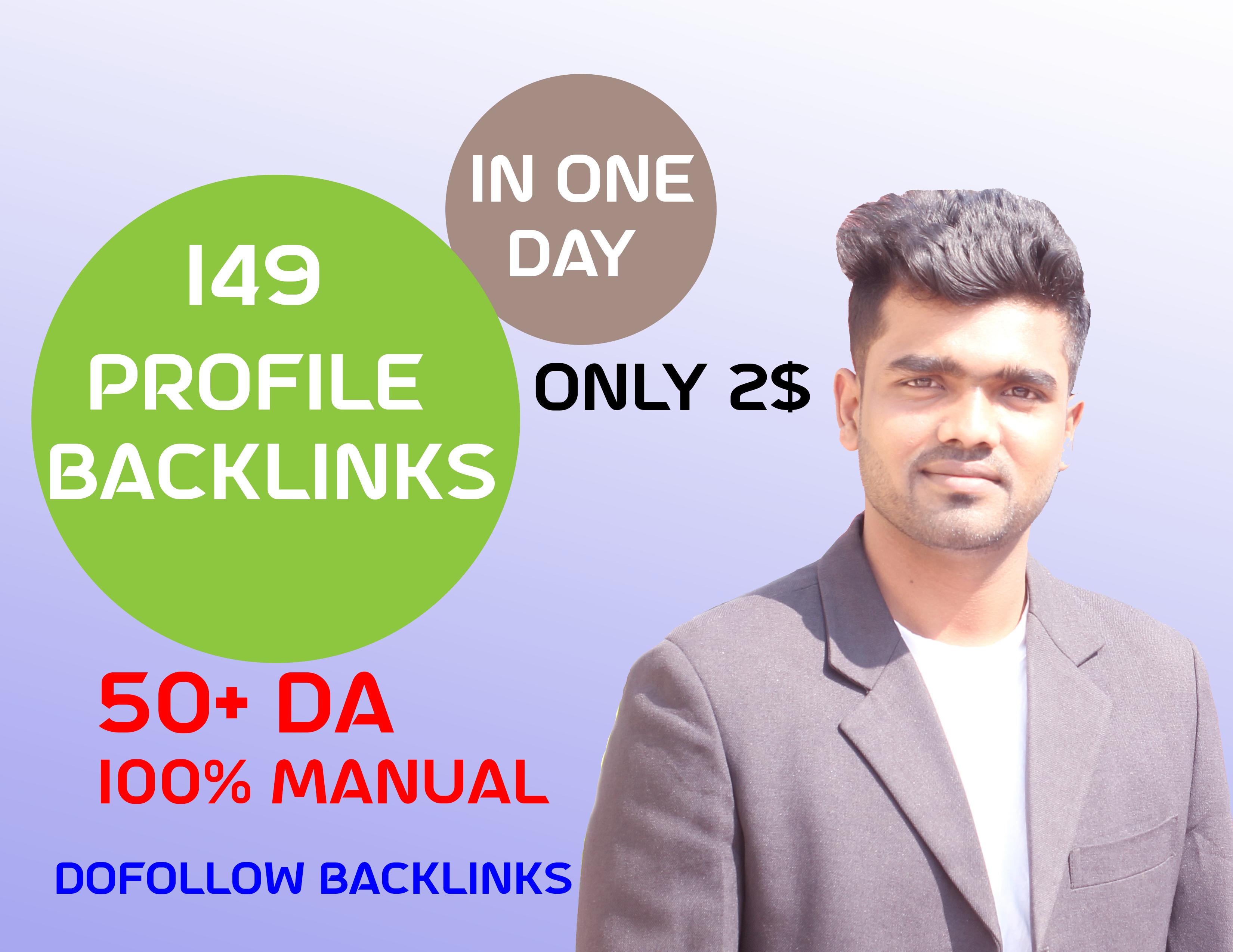 I will Create Manual HQ DA Dofollow Profile Backlinks