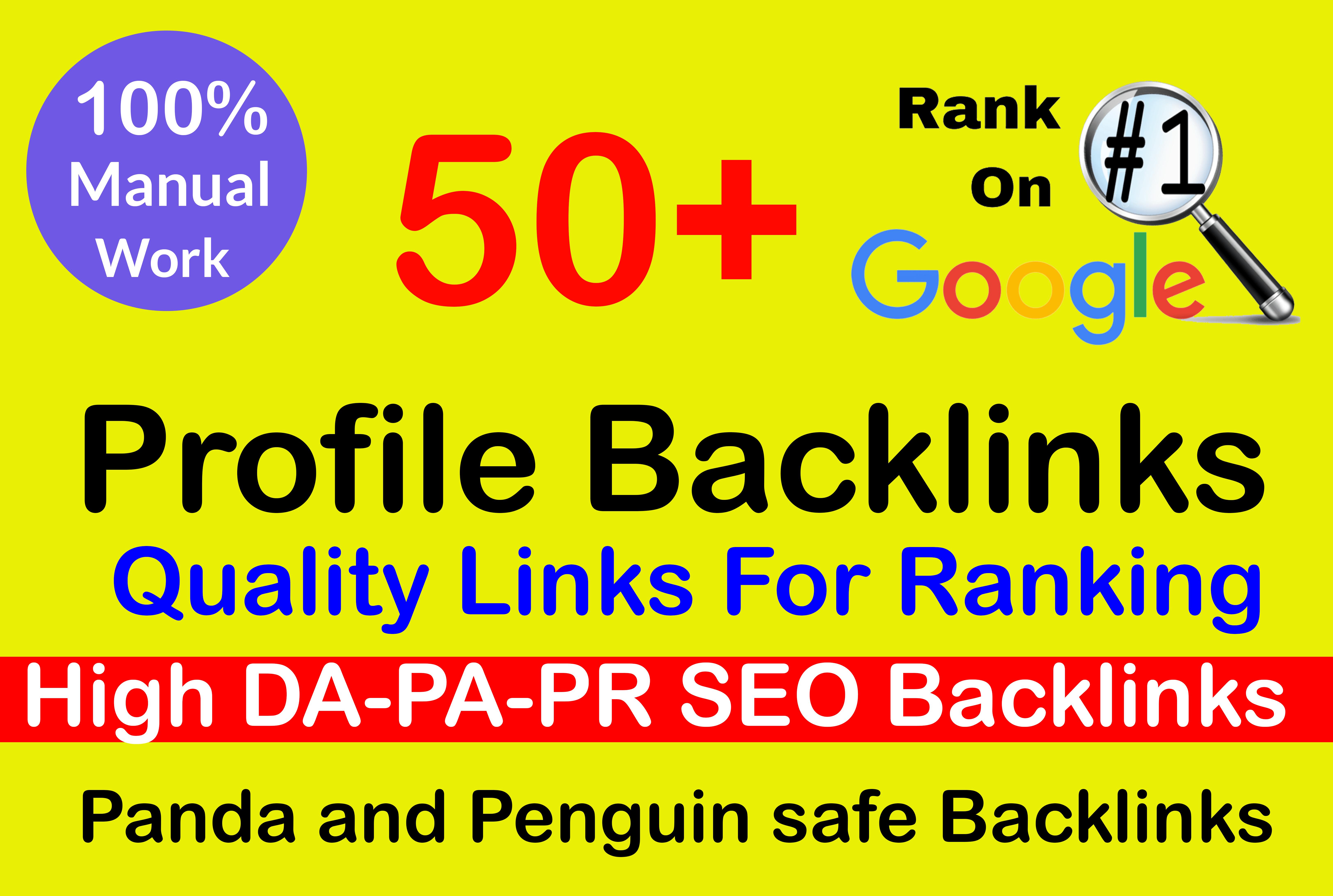 I will Create 50 high authority social media profile backlinks