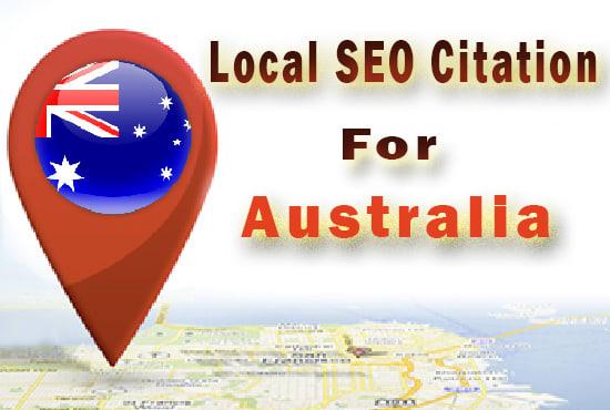Create 50 High DA Australian Local Citations local SEO