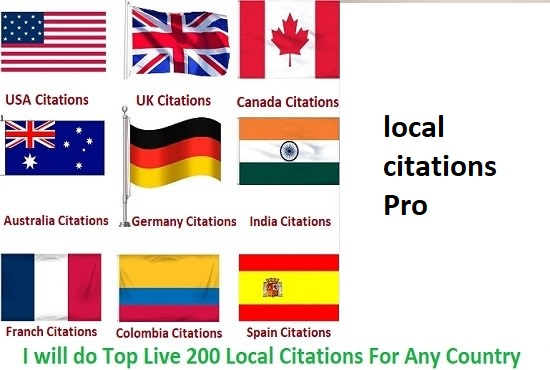Create 200 Top Live Local Citations For Any Country