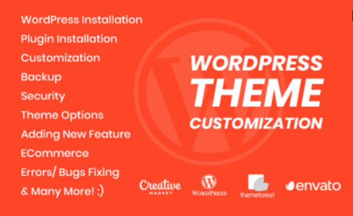 I will Provide Customize Wordpress Theme and fix errors problem