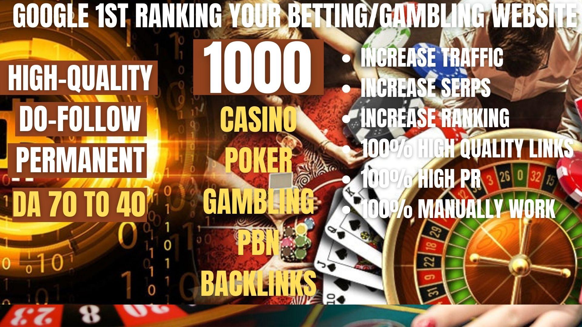 Buy one get free one 1000+ permanent casino, gambling, poker, judi pbn backlinks Casino related site
