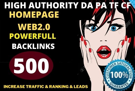 build 500+ PBN Backlink homepage web 2.0 with permanent High DA 40 to 90 PA UNIQUE SIT