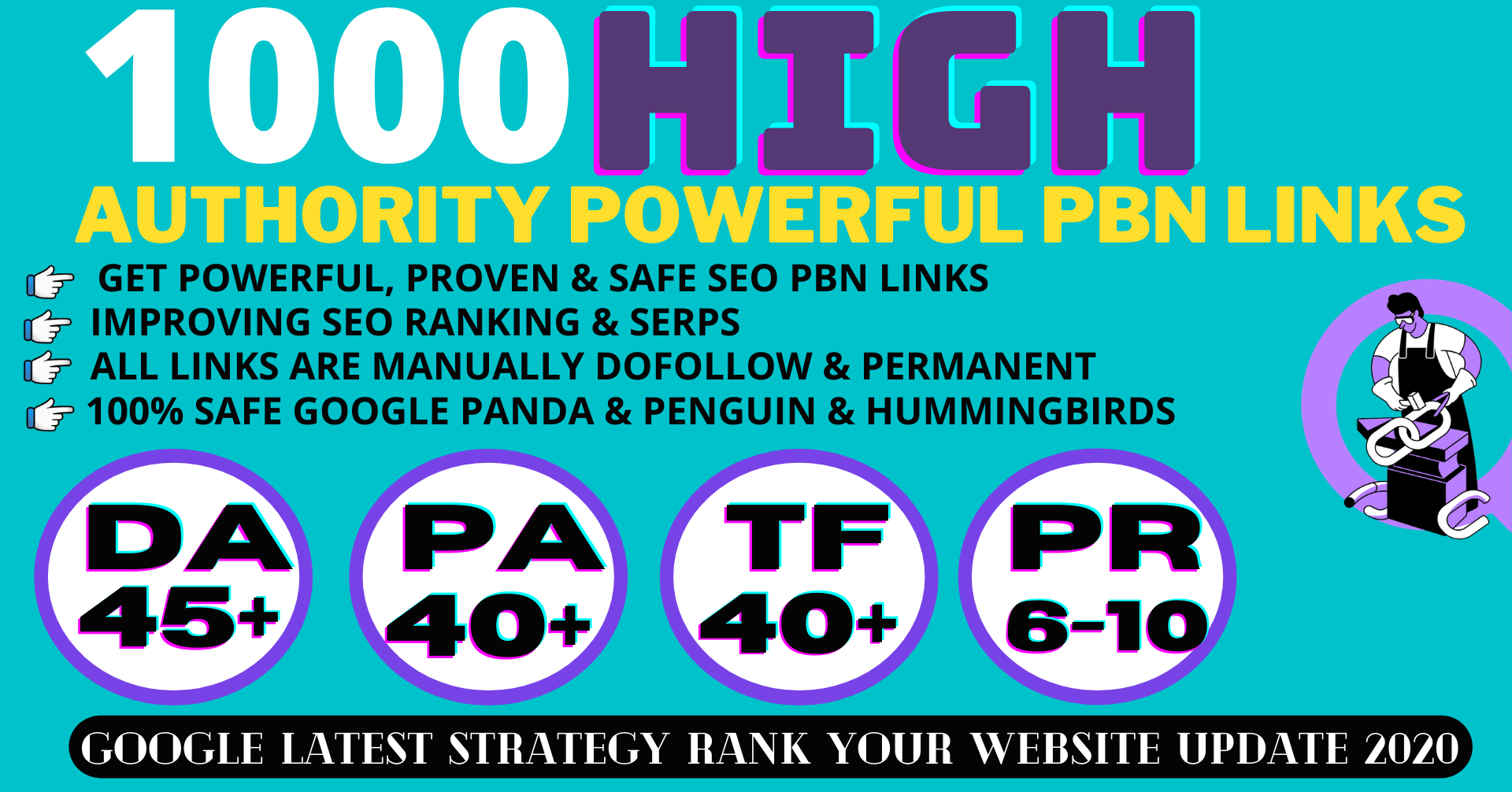 BUY1 GET1 1000 Permanent PBN Backlinks Web2.0 With High DA45+PA40+PR6+ Links Homepage Unique website