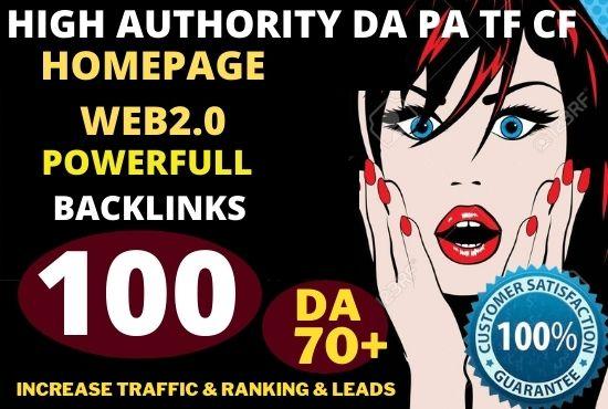 100+ Permanent PBN Backlinks Web2.0 With High TF CF DA 70 PA Do-follow Links Homepage Unique website