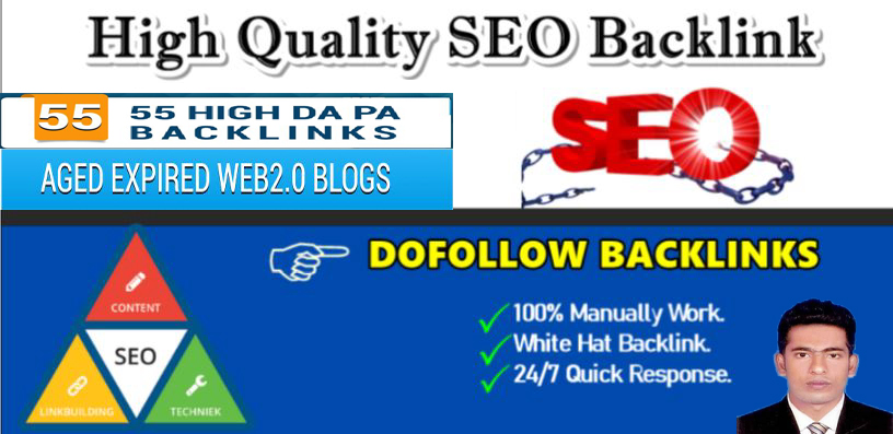 i will create premium high quality 50 dofollow SEO backlinks