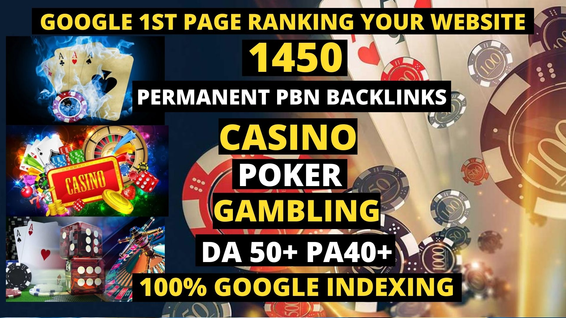 Get Unique 1450 PERMANENT PBN Casino/Gambling/Poker/Judi BOLA RELATED WEB20 UNIQUE SITEE