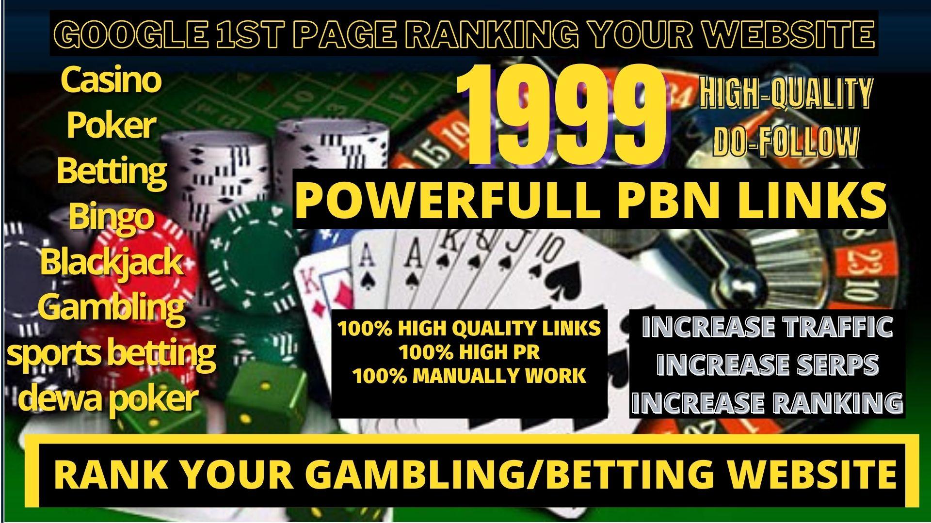 1999+Parmanent CASINO/POKER/Gambling/Sports Betting/judi bola DA 40+PA 40+PR 5+ related unique site