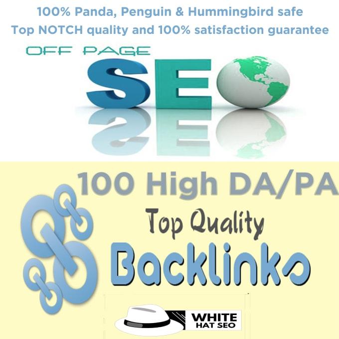 I will Manually do 100 high Domain authority SEO backlinks