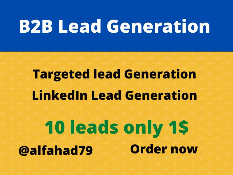 I will Provide you B2B targeted Lead Generation