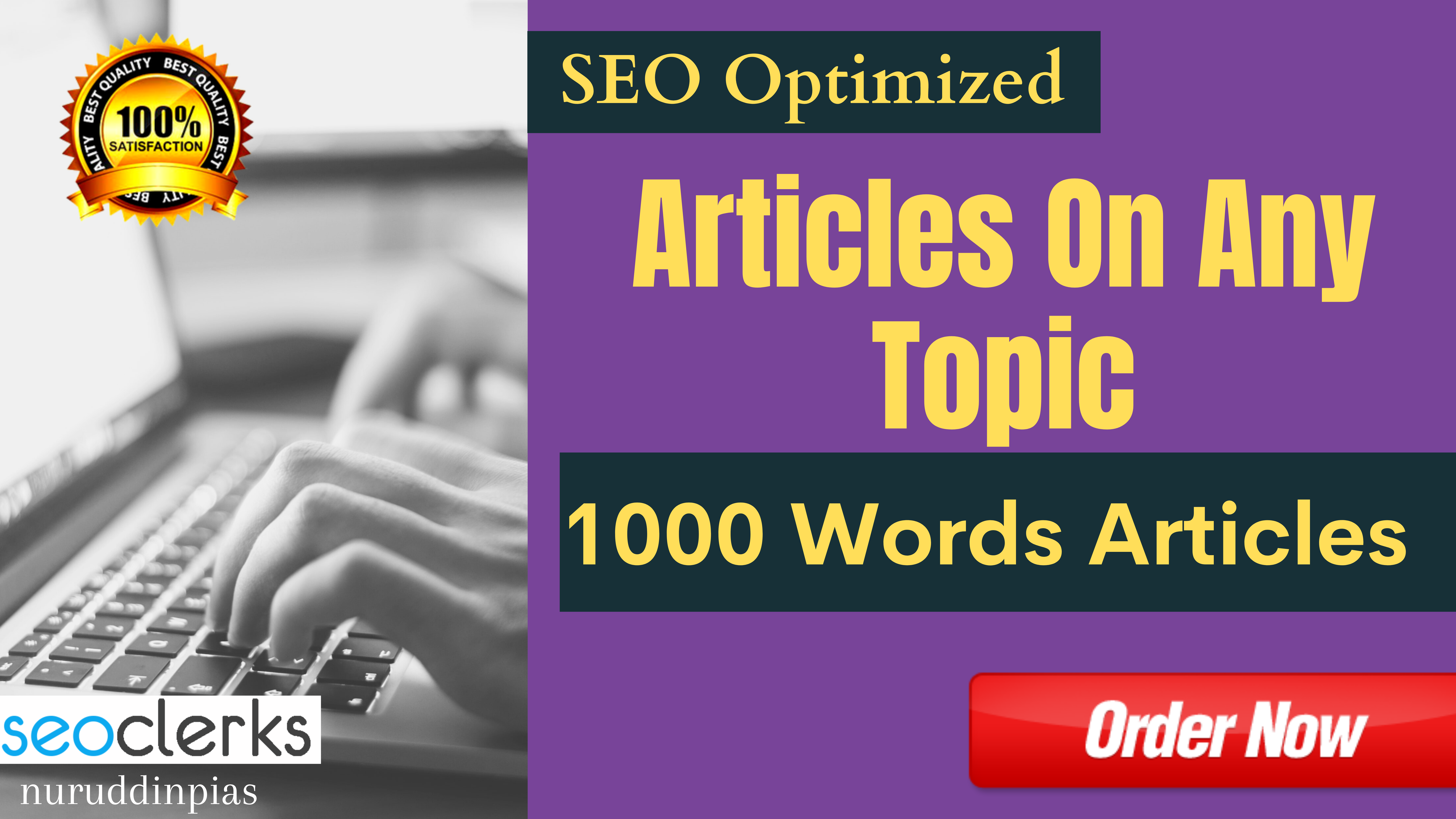 1000 Words SEO Optimized Articles And Blogs Write On Any Topic