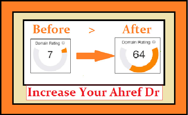 I will increase your website ahref domain rating dr 40 plus
