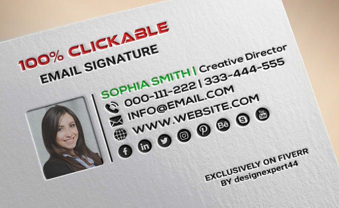 I will do clickable email signature