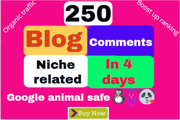 High Quality Niche Relevant Blog comments Backlinks With Low OBLs