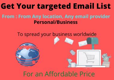Huge Bulk Email List For Affordable Price
