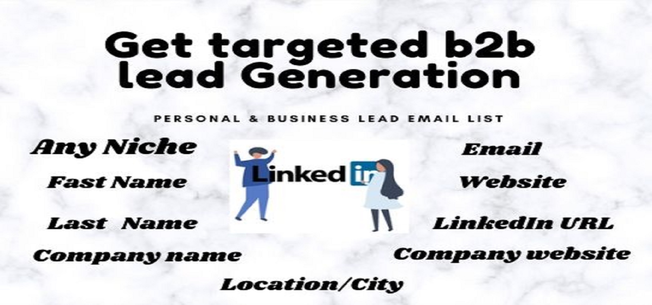 I will provide valid targeted b2b lead generation