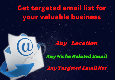 Get targeted email list for your email-marketing
