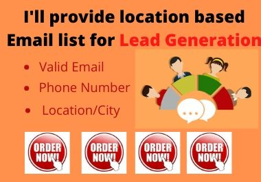 I will provide 50 b2b lead generation and targeted email list