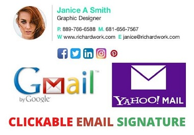 I will create HTML Email Signature