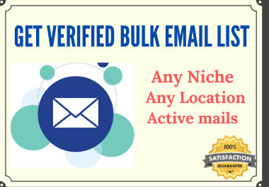 Get Verified Targeted Bulk Email List