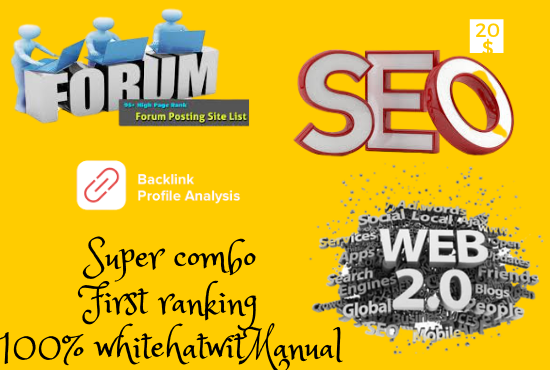 I will Do Super 20 Web 2 with 200 profile and 15 forum backlinks Super combo