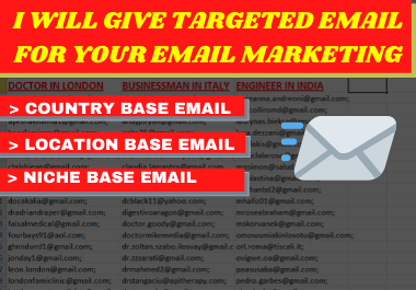 Get 5000 World Wide Targeted Email For Your Marketing