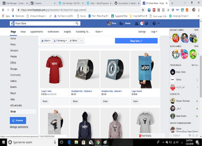 Create professional business shop, page
