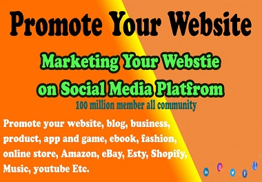 Organic Website promotion with social media marketing