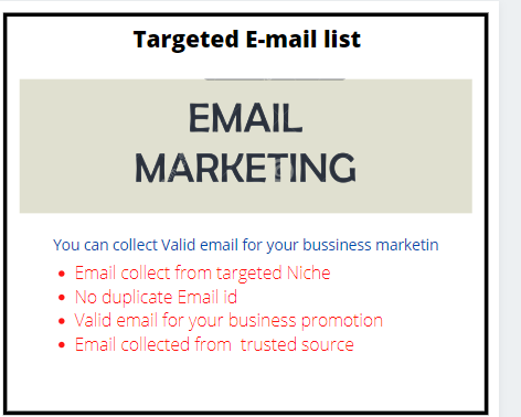 E-mail list from targeted niche