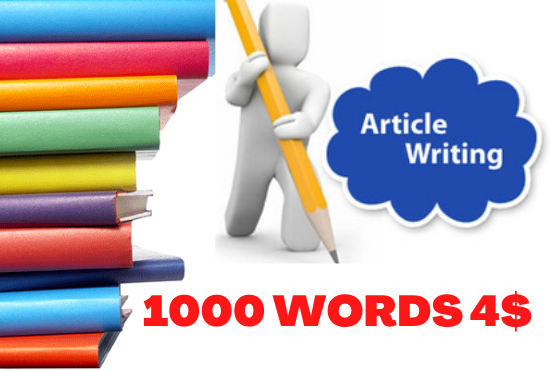 Get High-Quality 1000 Words SEO Optimized Unique Blog Writing and Article Writing