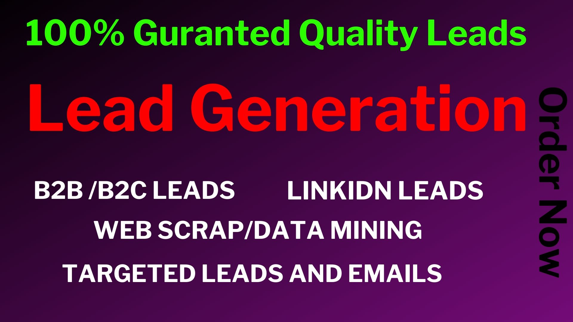 I will do b2b lead generation and find targeted business emails list.