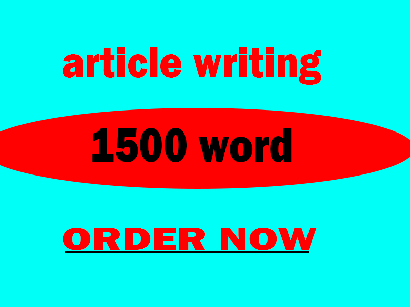write a 500 to 1500 words article on any topic