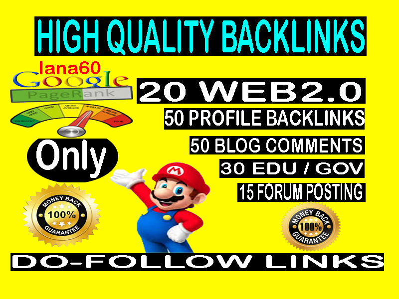 All in one high quality backlinks service- Rank on Google 1st page your site