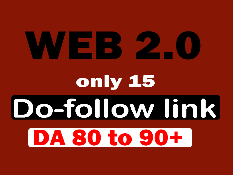 make high authority web 2.0 dofollow backlinks