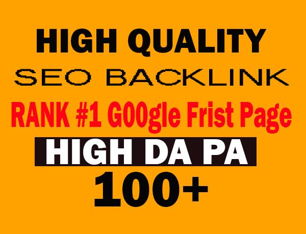 manually create 100 DA high quality SEO backlinks