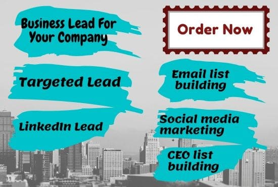 I will collect B2B company lead for you and your company