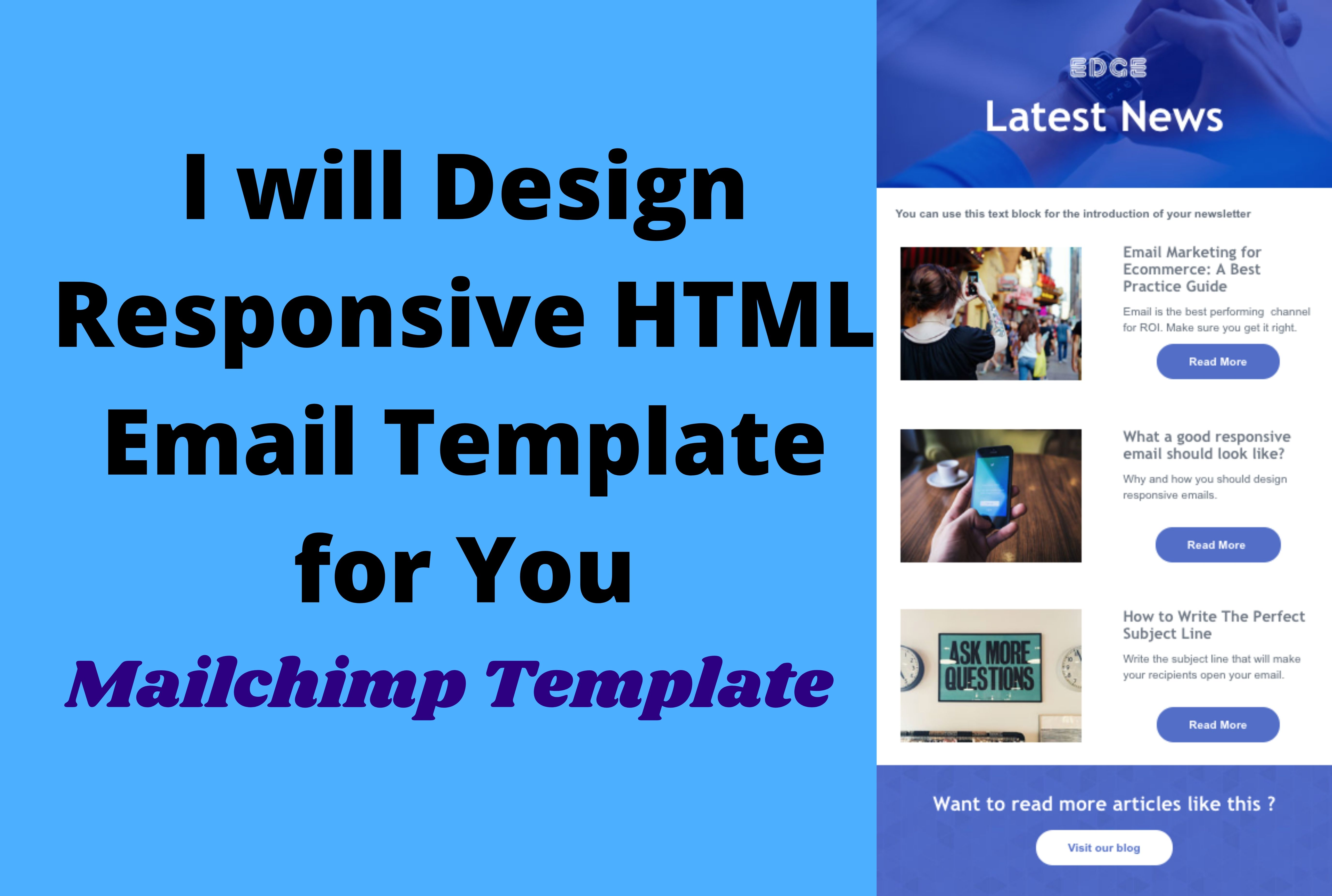I will create responsive HTML email template