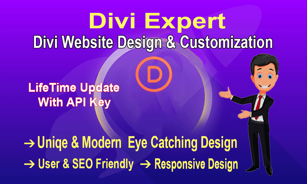 I will design your Full wordpress website with divi theme and do customization