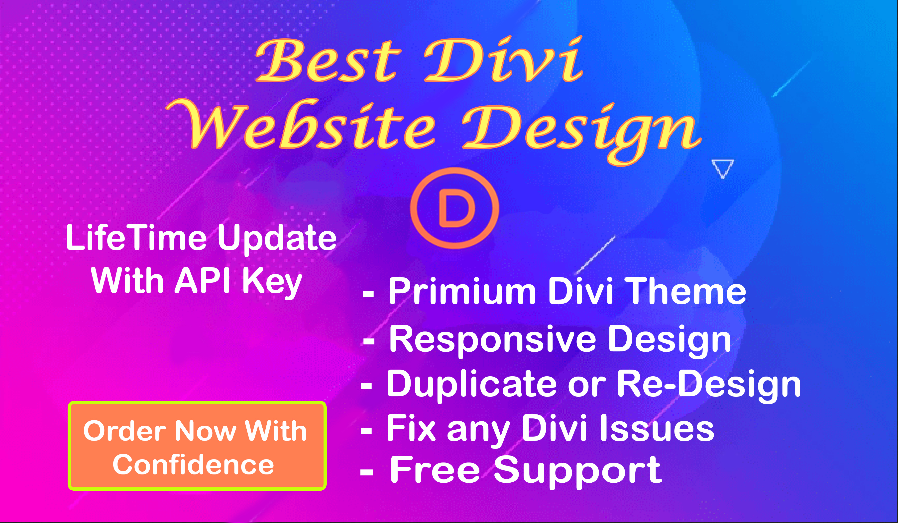 I will build your Full wordpress website using divi theme and do customization