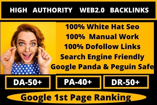 100 PBN Web2.0 Dofollow Backlinks Service for homage with HIGH Quality DA/PA in unique website