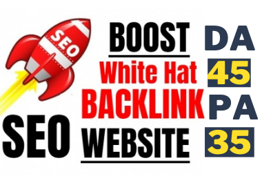 Manual High Authority White Hat Backlink for off-page SEO Service boost your sites first page