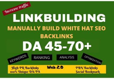 200 Manually build white hat web2.0 dofollow pbn backlinks for ranking