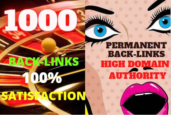 1000 High Authority Permanent web2.0 Backlink with High TF,  CF,  DA,  PA with unique website