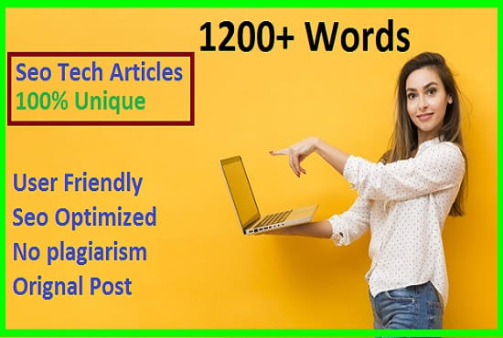 I will write tech articles with on page seo optimized for tech site