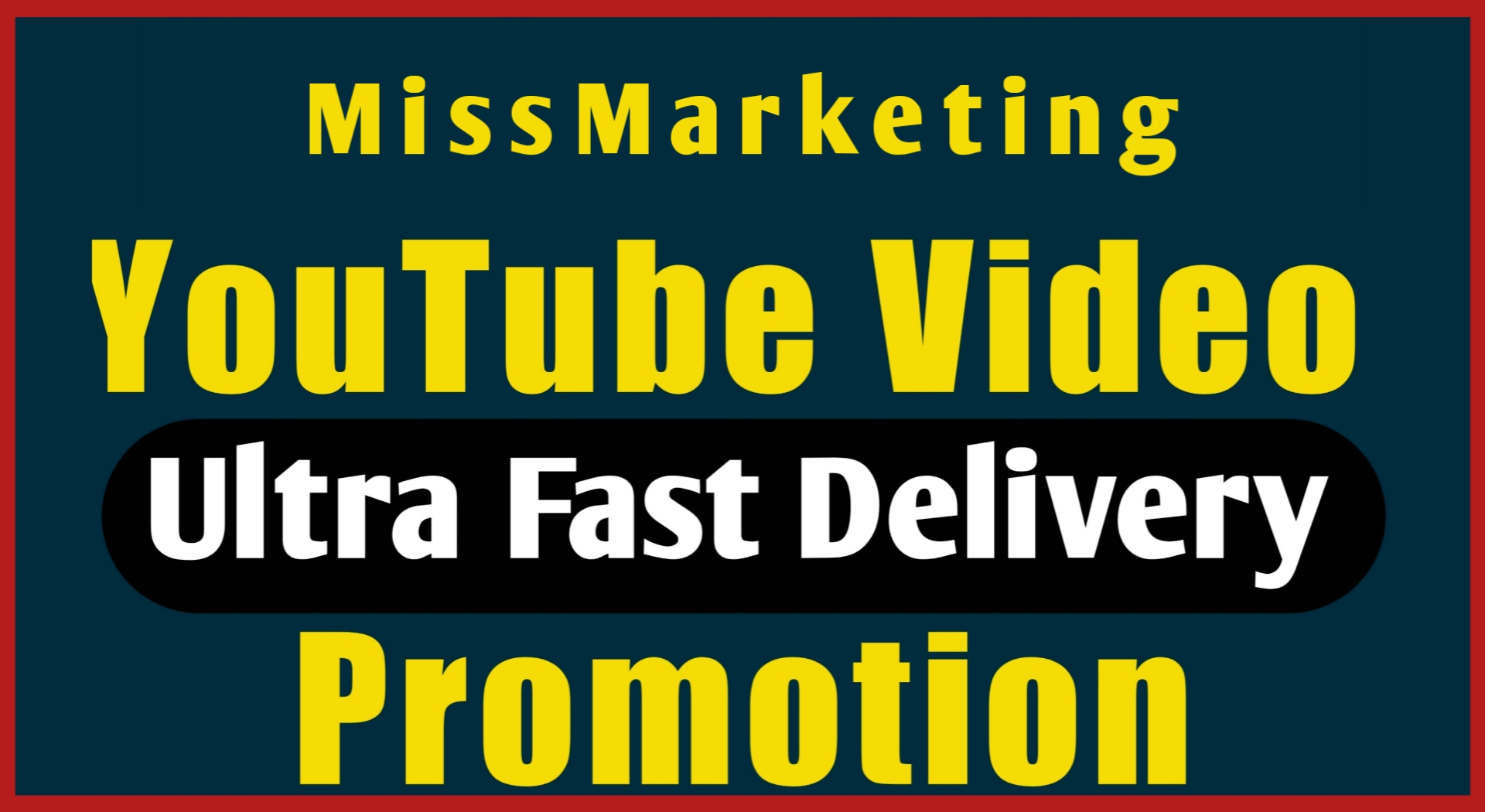 Fast Work Youtube Video Promotion
