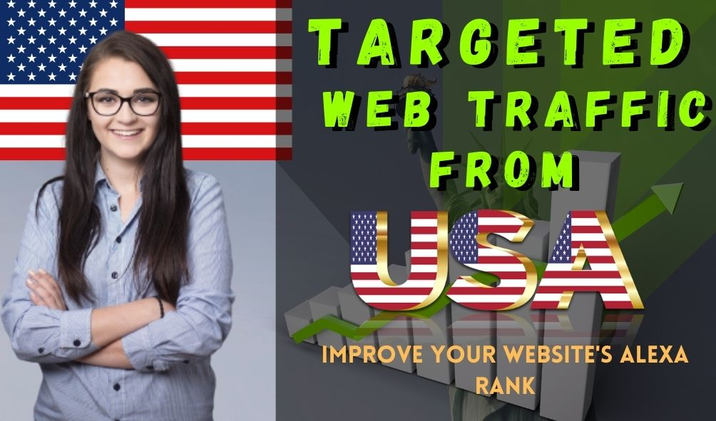 I will drive 100000 USA web traffic for 30 days