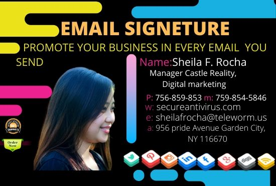 I will Create professional html email signature