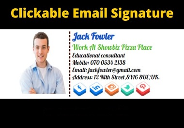 I will do design clickable email signature